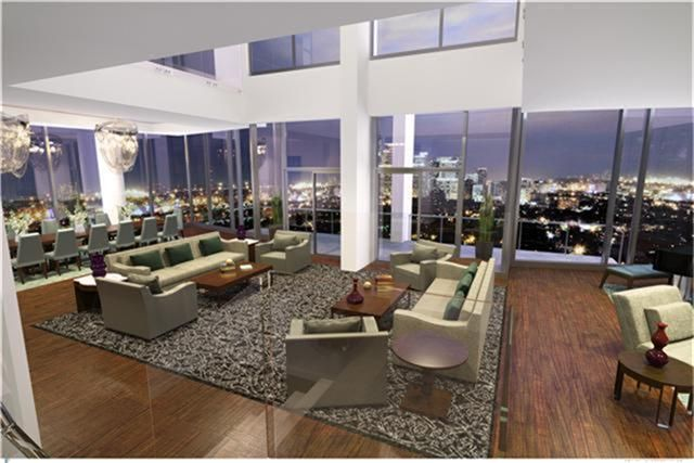 this unique penthouse in houston is the very pinnacle of modern