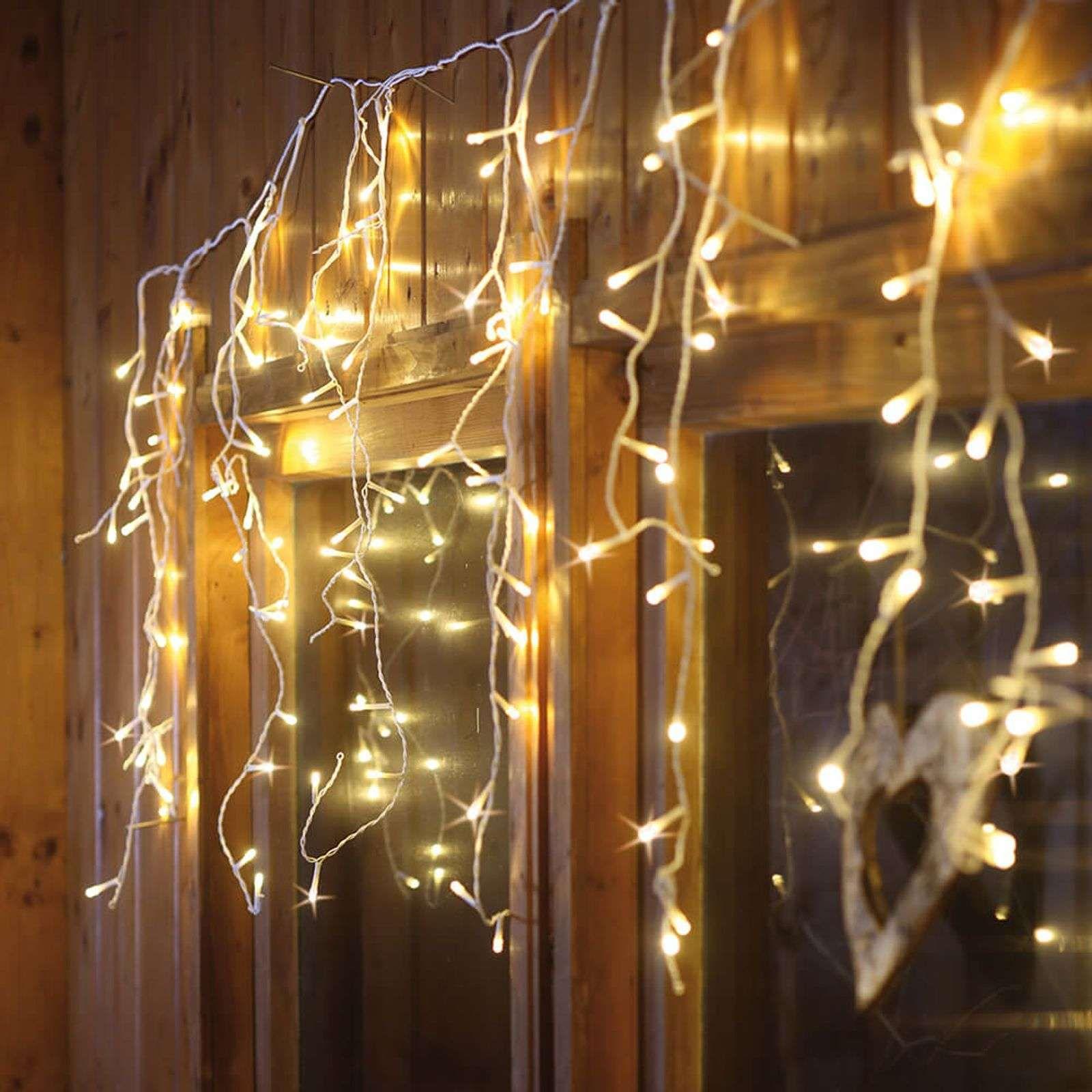 Tenda Luminosa Led Di Colore Bianco Caldo Di Hellum Led Lichtvorhang Und Lampen