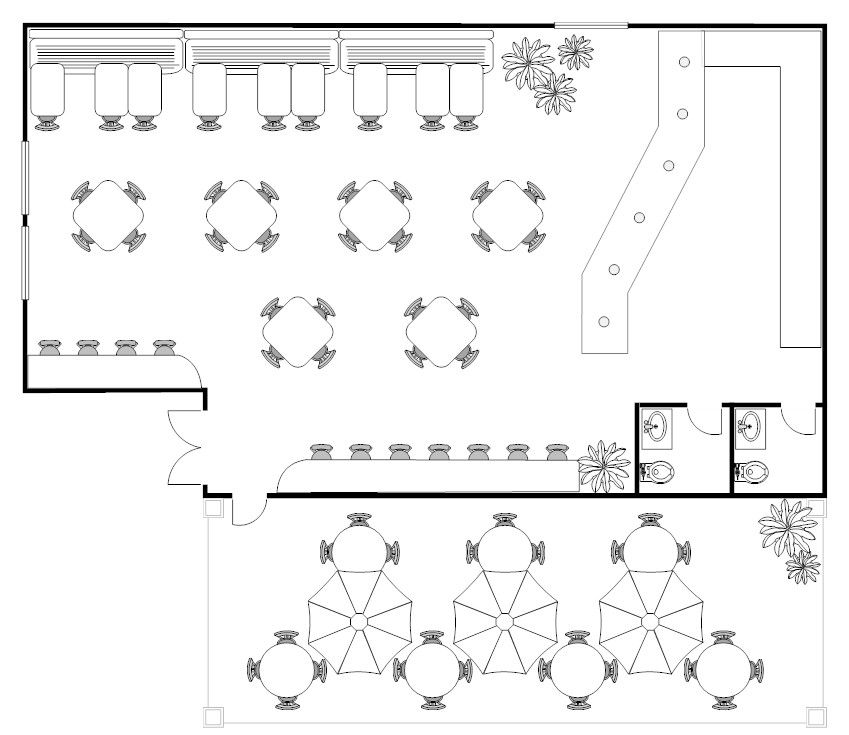 Coffee Shop Floor Plan Example  Coffee Shop Concept