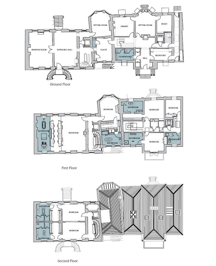 Ground First And Second Floor Plan Petra Ecckestone S Proposed Renovations For Sloane House And Sloane Lodge Floor Plans Petra Ecclestone House Floor Plans