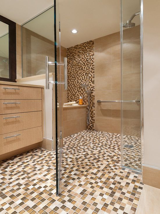 Contemporary Bathroom Earth Tone Bathroom Accents Design Pictures Remodel Decor And Ideas Page 20 Bathroom Trends Mosaic Bathroom Bathroom Design