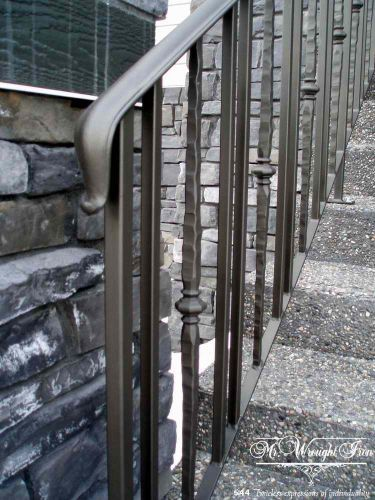 Outdoor railing wrought iron outdoor outdoor stair - Exterior wrought iron handrails for steps ...