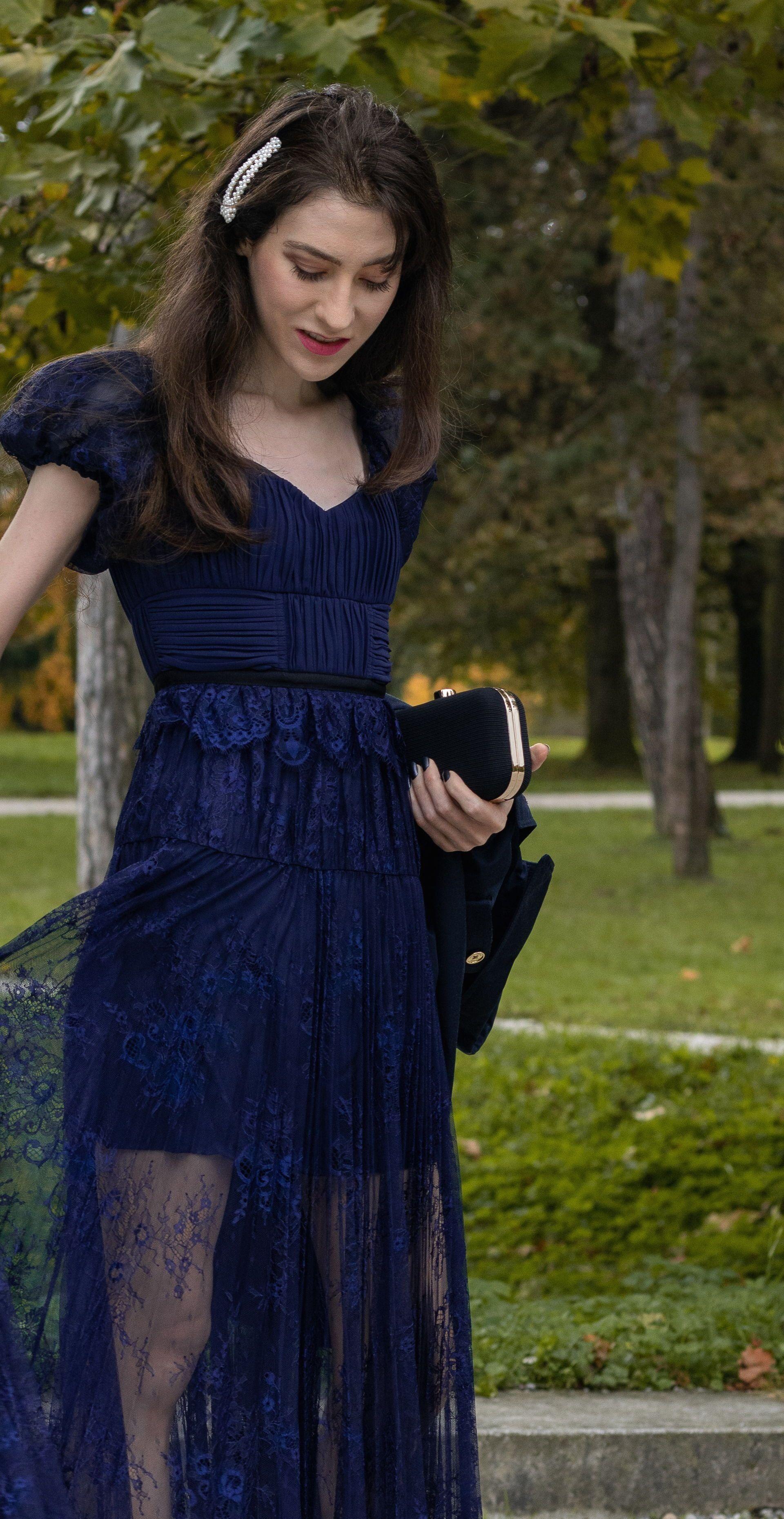 Blacktie wedding guest dress for fall wedding