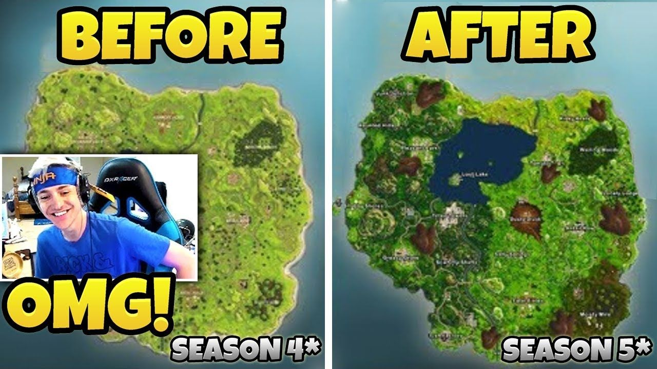 Ninja Reacts To New Map Fortnite Battle Royale Top Players