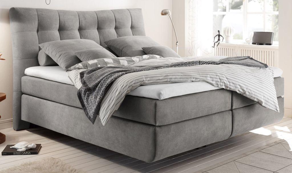 Boxspringbett Marie 2 180x200cm Light Grey W 2020 Garderoba