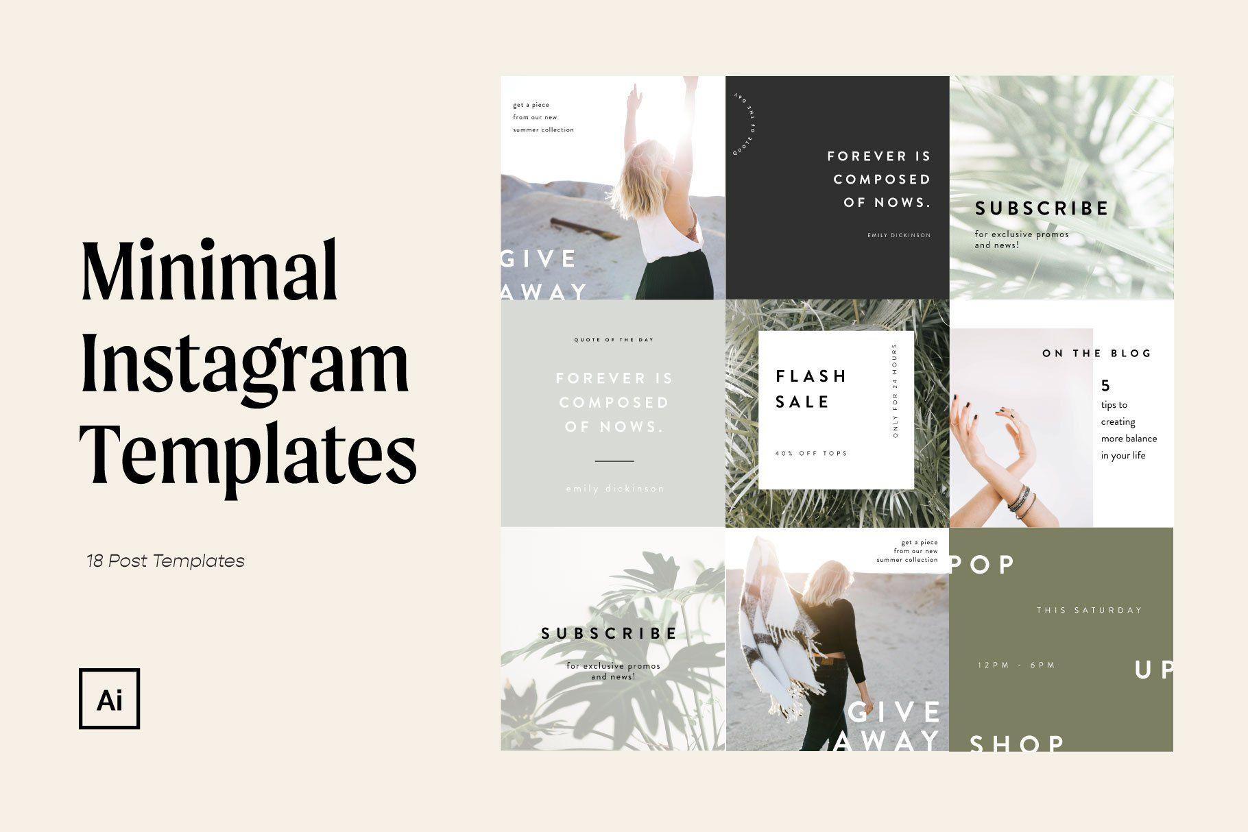 18 customizable Instagram templates for e-commerce...