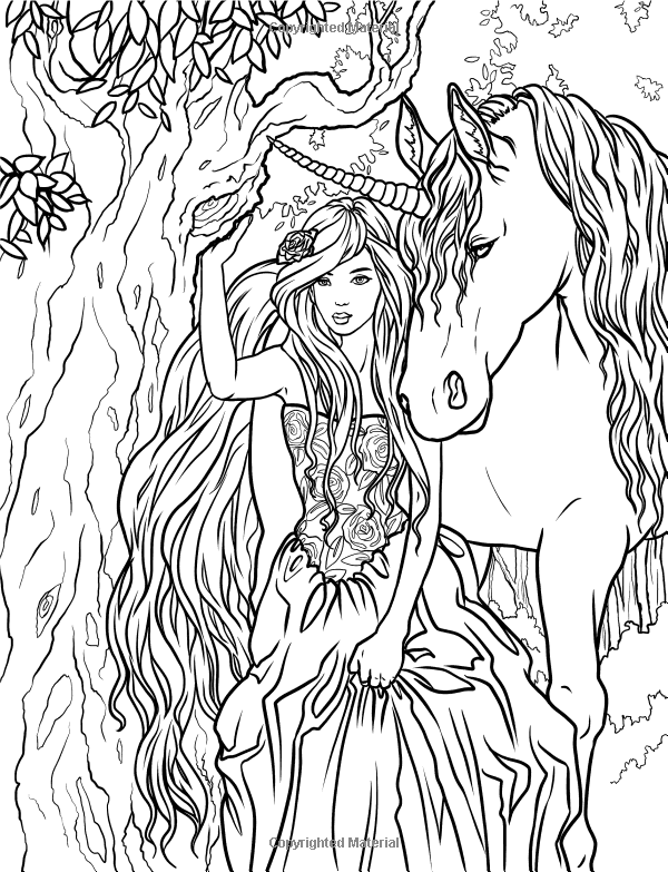 I Wanted To Share With You All A FREE Coloring Page From My New Book Enchanted Magical Forests Collection The Full