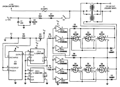 Nonstop-Free Electronic Circuits Project Diagram and