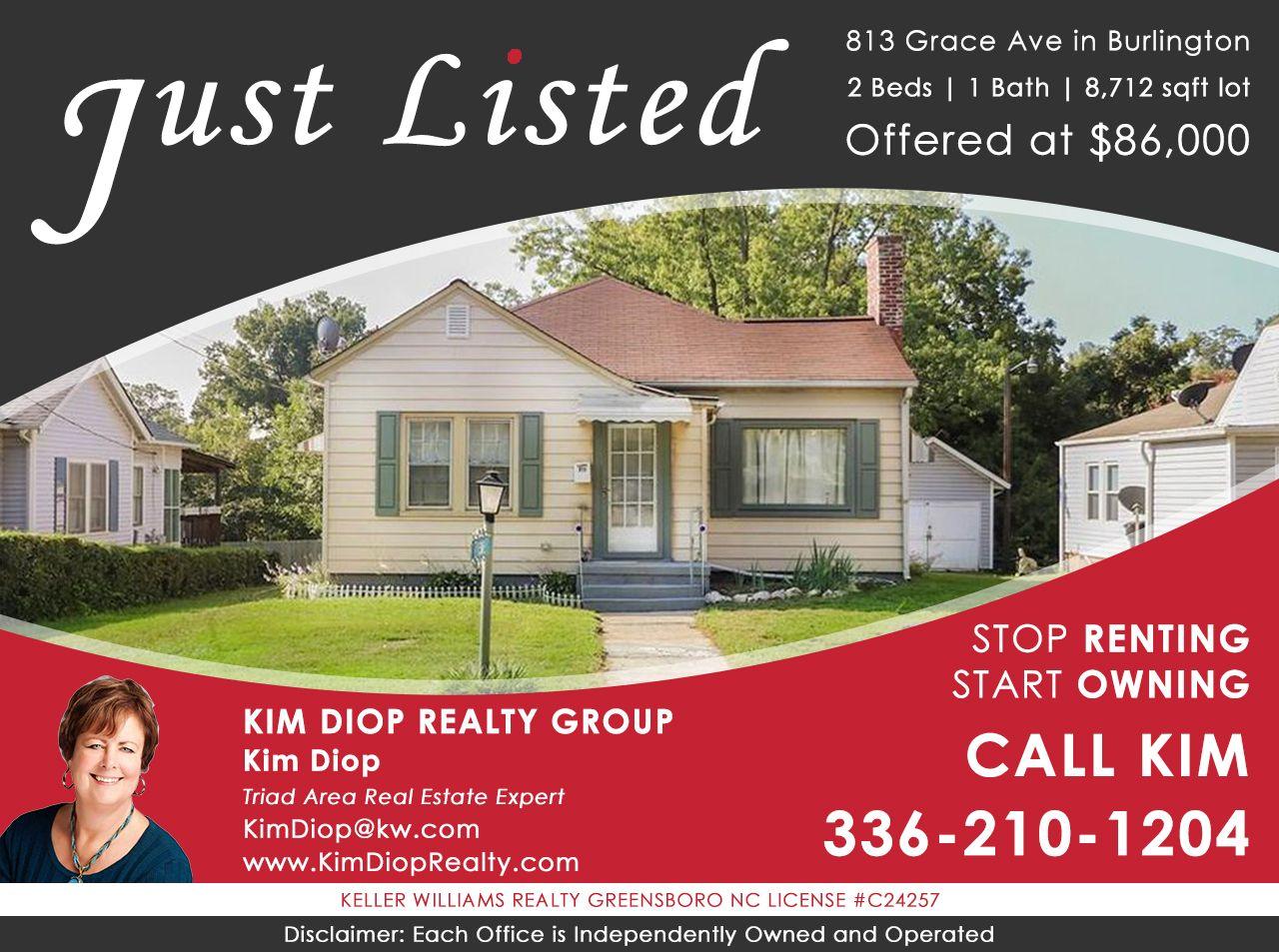 Just Listed 813 Grace Ave Burlington Nc 27217 Real Estate North Carolina Real Estate Estates