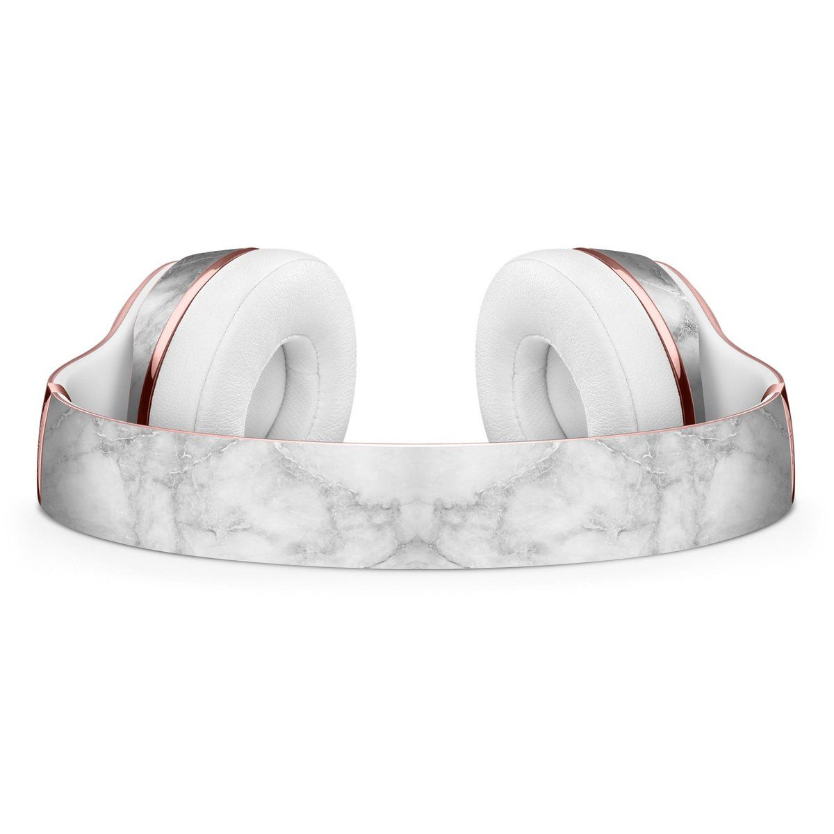 c3e6fcf0f24 White Scratched Marble Full-Body Skin Kit for the Beats by Dre Solo 3  Wireless Headphones