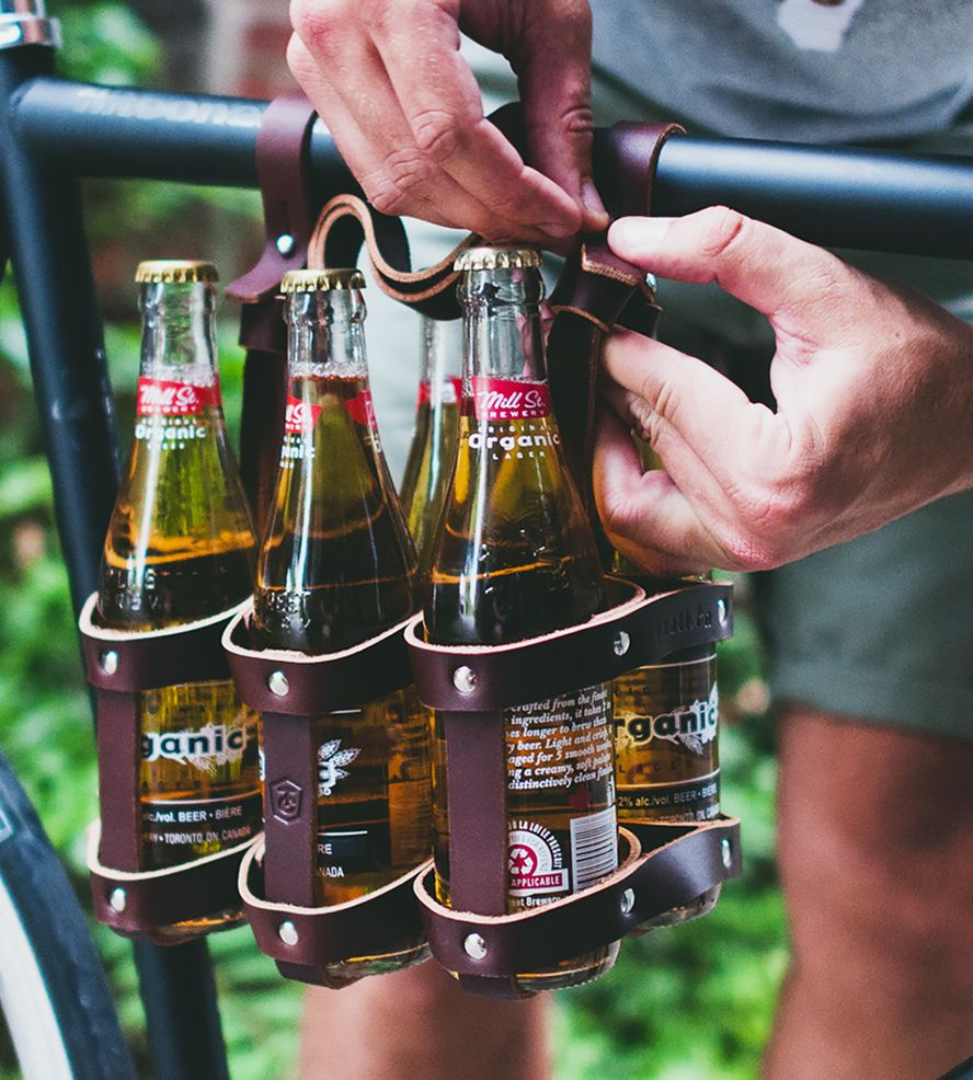 Leather Bike Six Pack Carrier By Fyxation On Scoutmob Cool Things To Buy Pack Leather Leather Bicycle