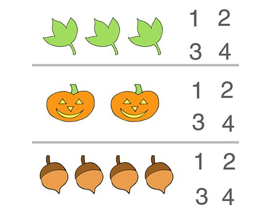 Fall Counting Preschool Worksheet Numbers Preschool