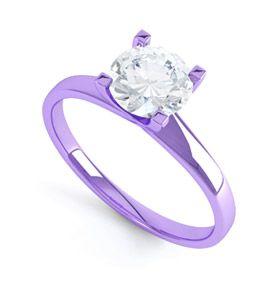 Purple Gold Engagment Ring