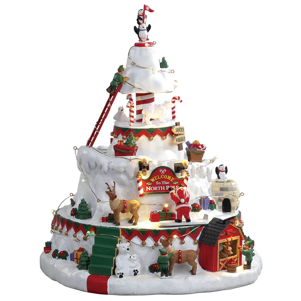 Lemax Christmas Village Michaels.North Pole Tower Sku 84348 Released In 2018 As A Michaels