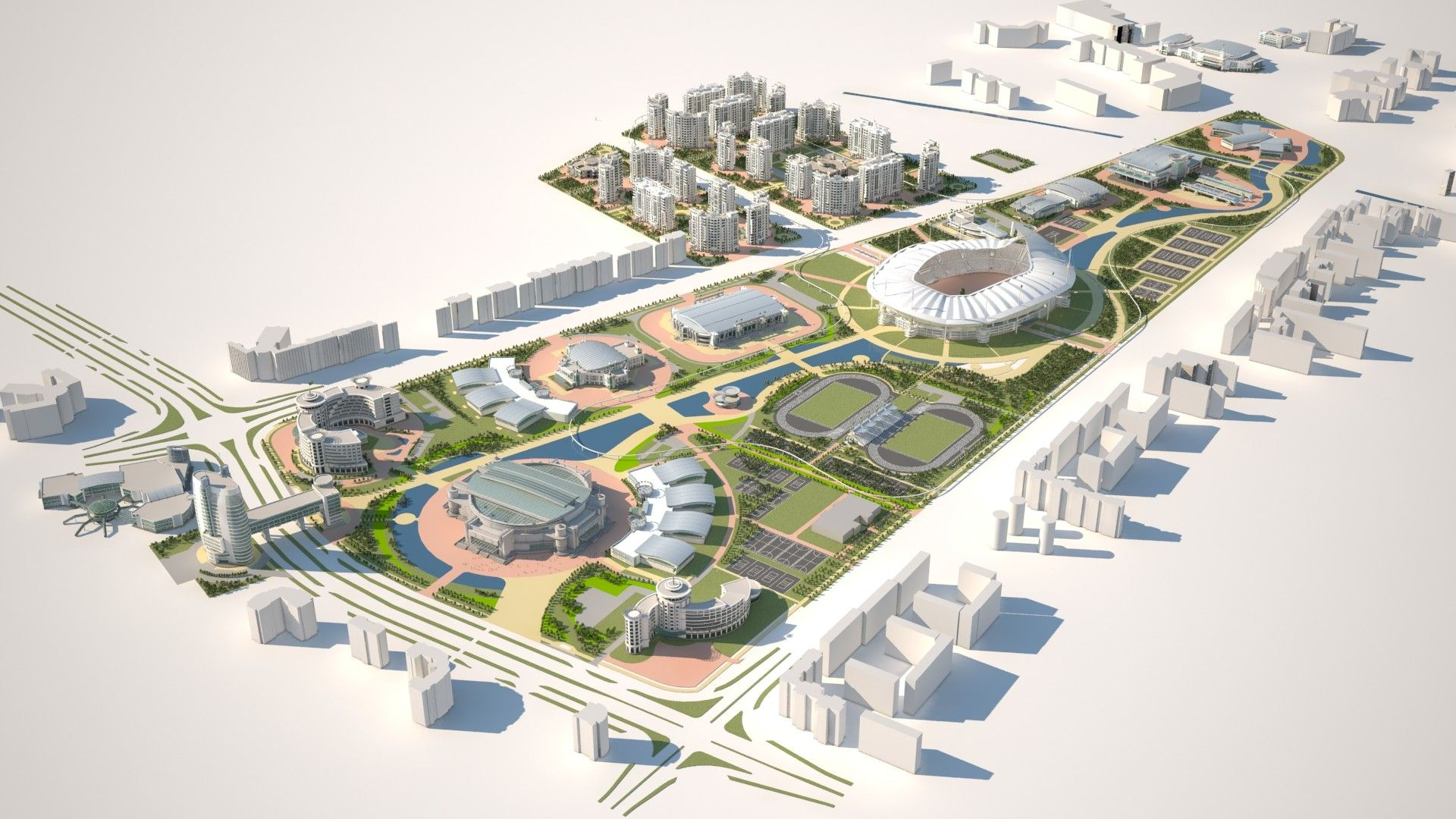 Gallery of Ashgabat Olympic Complex Proposal / Arup 1