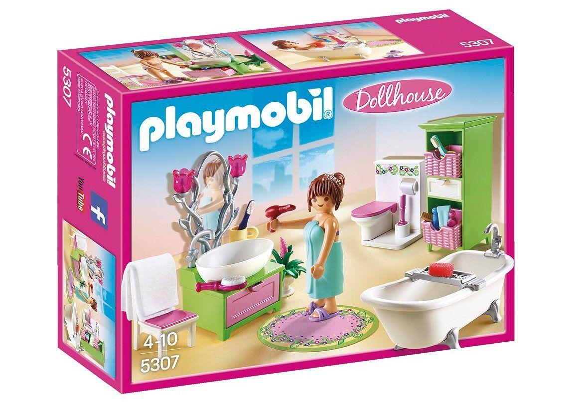 Konstruktionsspielsteine Romantik Bad Dollhouse In 2020 Playmobil Bad Und Zahne Putzen