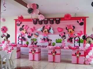 Fiestas Infantiles Decoradas Con Minnie Mouse Parte 2