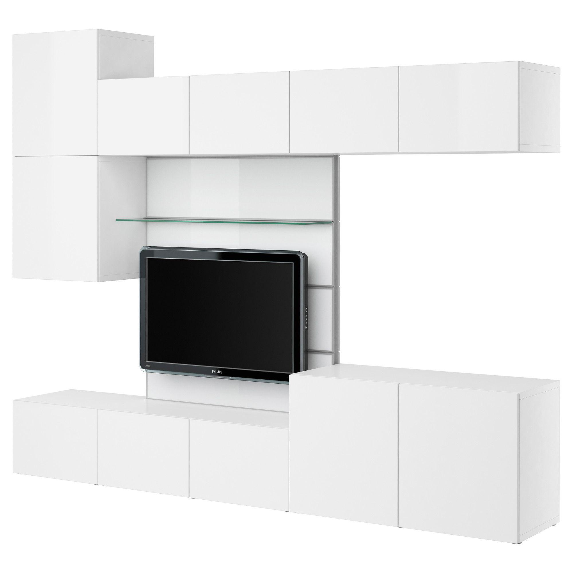 BEST… Pannello TV contenitore audio video bianco lucido bianco