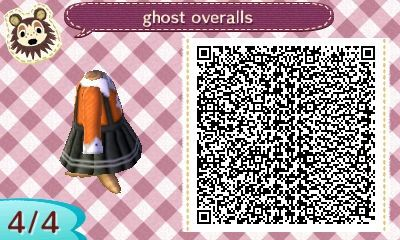 "mayor-franzi: "" I designed some overalls for Halloween! A cute little ghost sweater. :) """