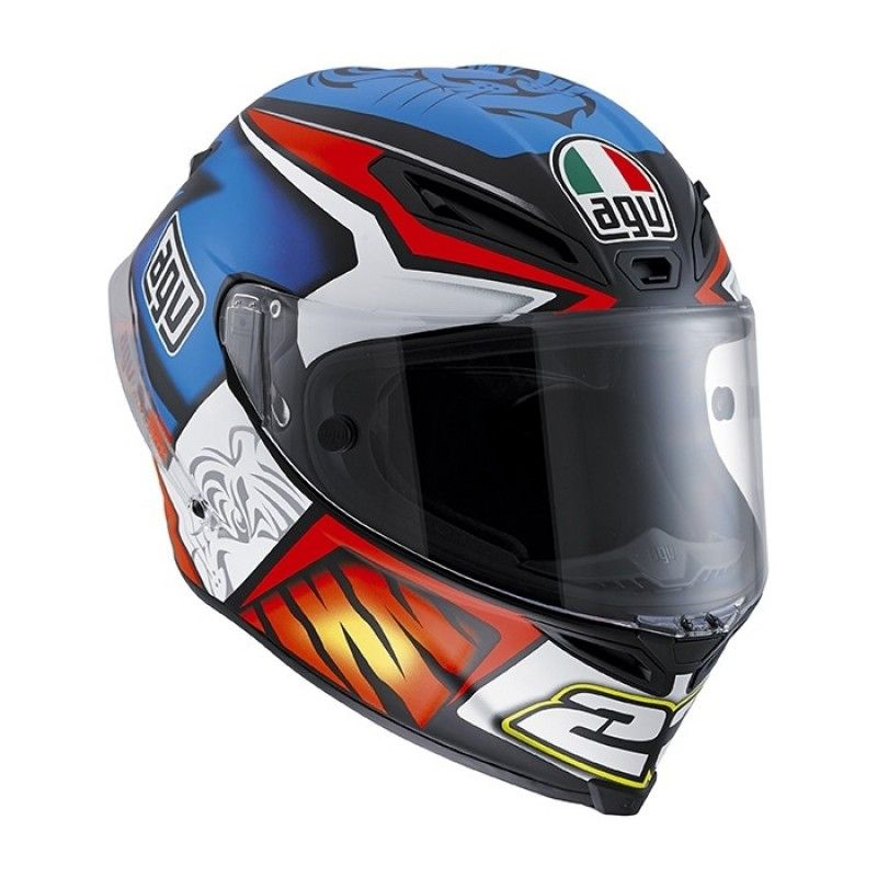 AGV Corsa-R Graphic Motorcycle Helmet V46 Matt Blue - Size S / 56cm 206101-56   eBay