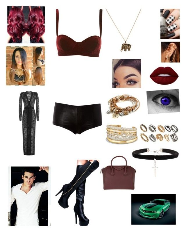 """Sexy freak"" by lumsdenk on Polyvore featuring ASOS, Balmain, Edition, Vanessa Mooney, Givenchy, David Yurman, Lizzy James and Accessorize"