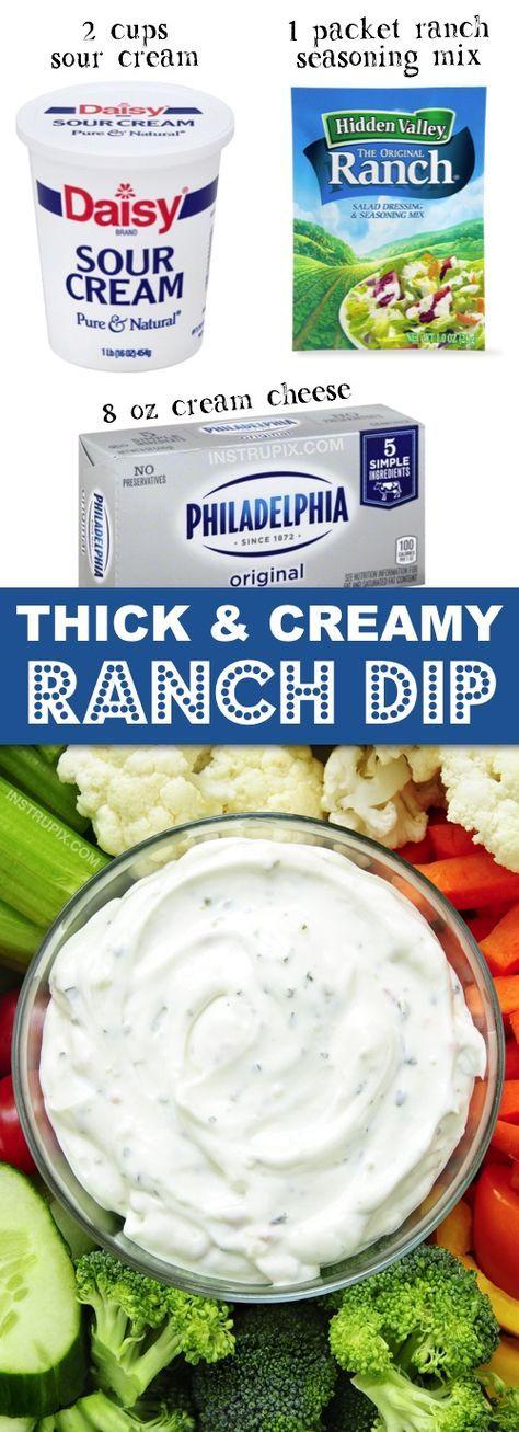 Easy Homemade Ranch Dip Recipe 3 Ingredients Recipe Easy Homemade Recipes Homemade Ranch Dip Ranch Dip