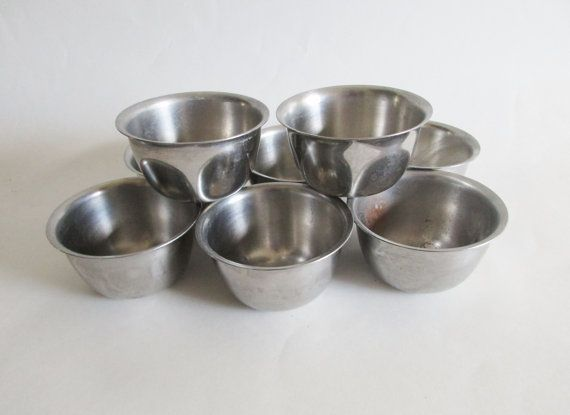 Vollrath Stainless Steel Set of 8 Condiment Replacement Bowls 6926 ...