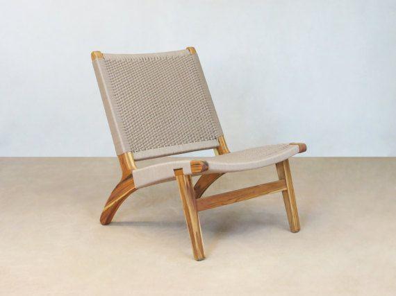 Khaki Lounge Chair Mid Century Modern