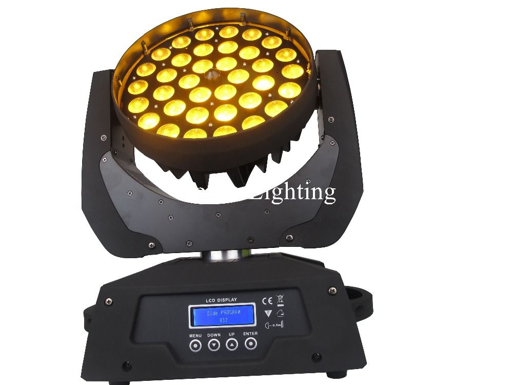 36Pcs RGBWAY Led Moving Head Wash Stage Lighting Dj Mobile Head Zoom Light  6 Color Switch