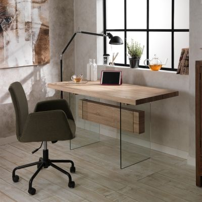Tavolo da pranzo / scrivania design moderno in vetro e mdf Ivo ...