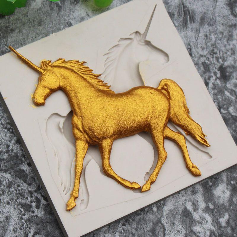 Unicorn Horse Silicone Chocolate Fondant Candy Cake Decorating Baking Mould