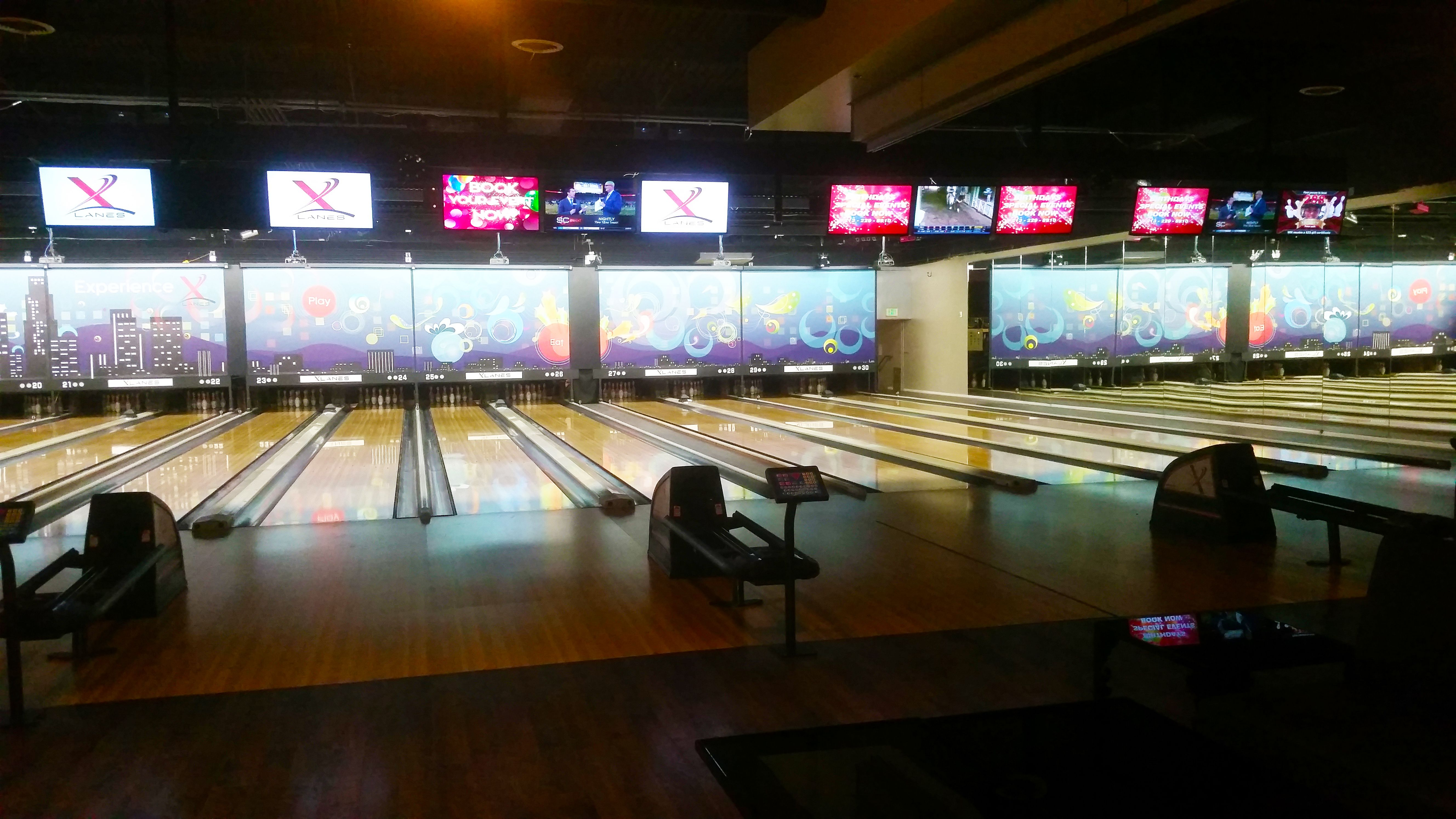 Join Us For Early Bird Bowling Monday Through Friday Open To 5 Pm For Only 2 75 Game Xlanesla Www Xlanesla Com 213 2 Bowling Basketball Court Television