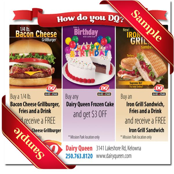 photograph relating to Printable Dairy Queen Coupons identified as Dairy Queen Printable Coupon December 2016 Printable