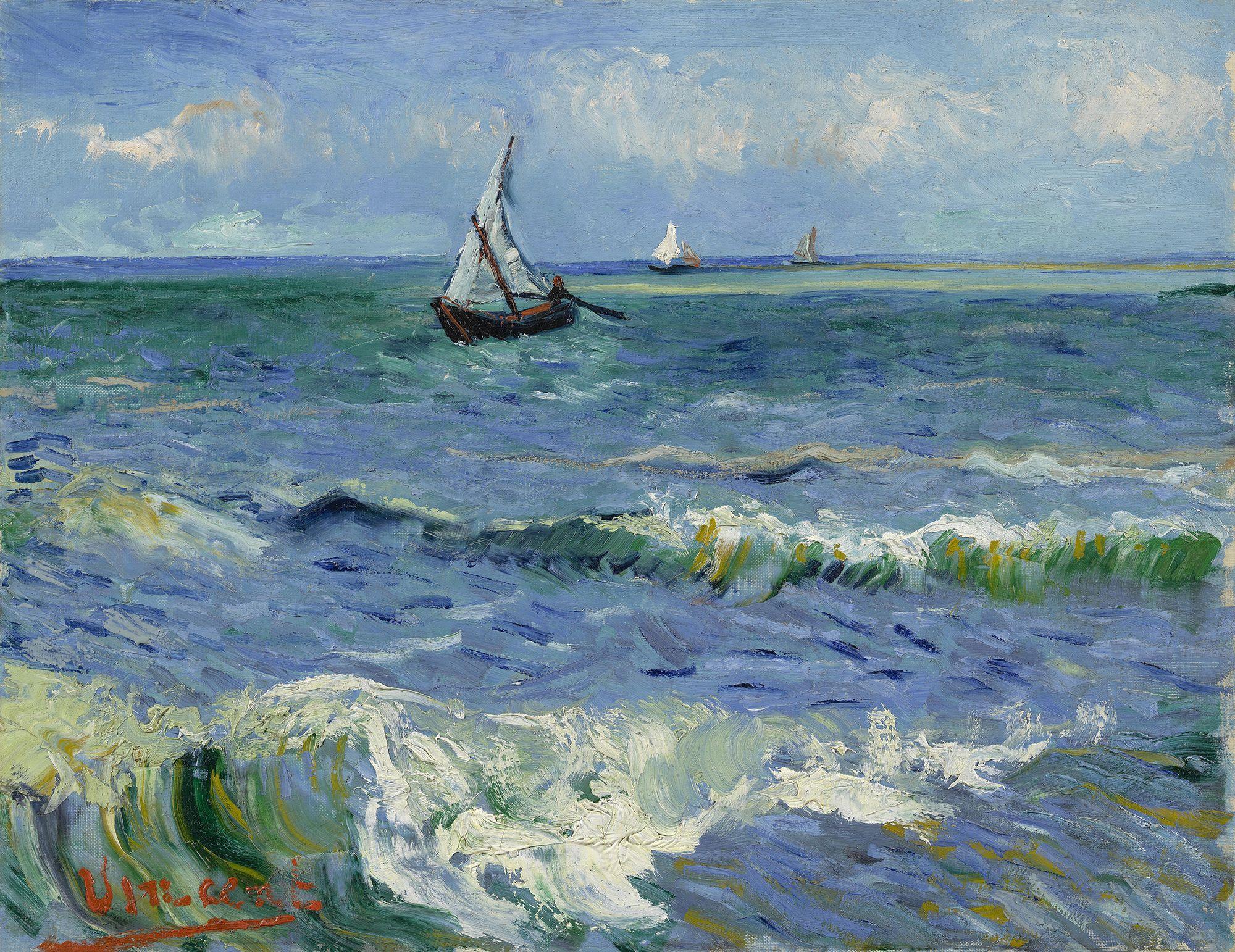 Il Mare A Les Saintes Maries De La Mer Vincent Van Gogh 1888