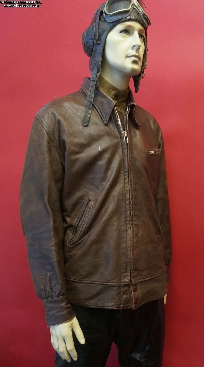 Collect Russia Military Aviator's Leather Flight Jacket, circa mid ...