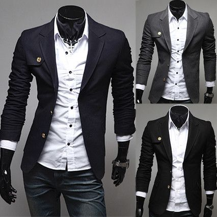 Two Buttons Slim Fit Design Fashion Mens Blazer | Sneak Outfitters ...