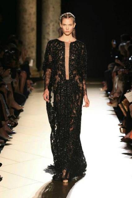 Impresionante este vestido de la nueva colección de Elie Saab para el invierno
