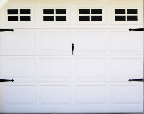 Fake Windows For Your Garage Door Peel And Stick Vinyl For Standard Single Door Garage Door Windows Garage Doors Fake Window