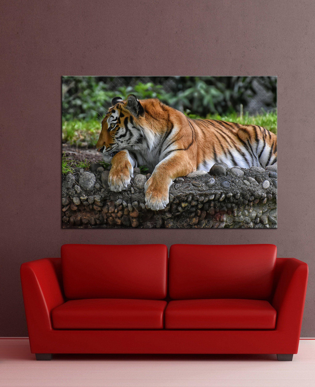 Beautiful tiger on canvas tiger wall art canvas print