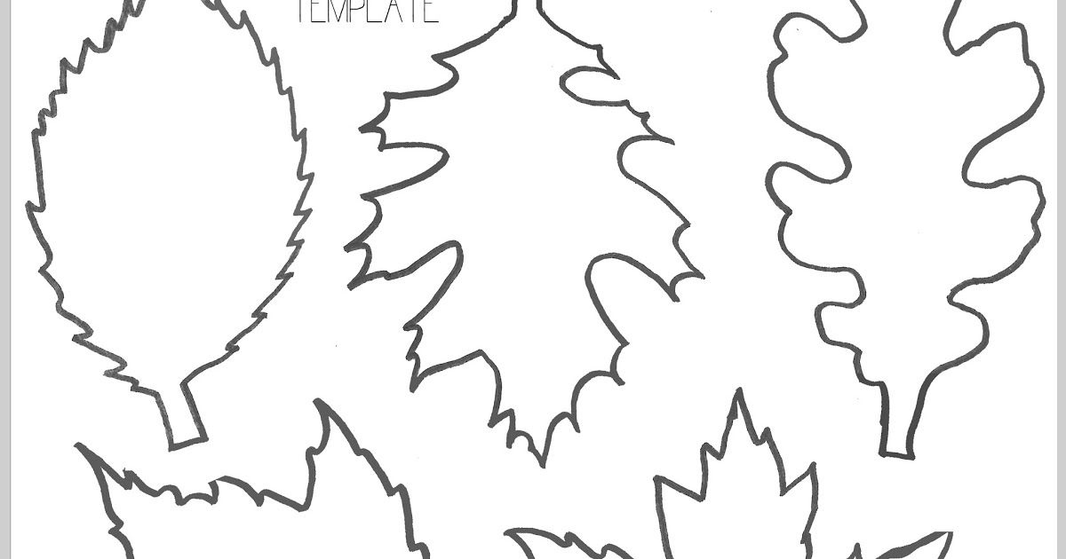 Free Printable Fall Leaves Leaf Line Draing Outline Black And