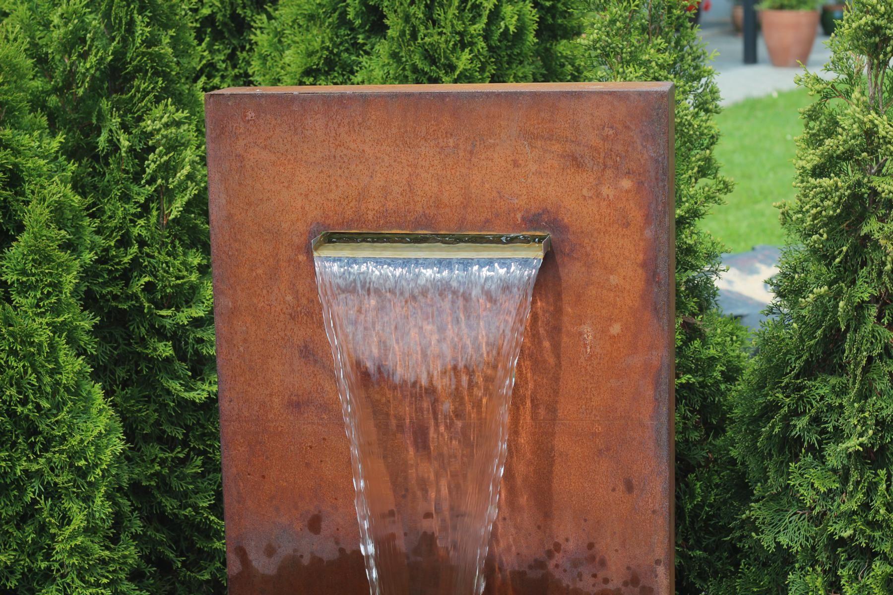 Pin von brunnenschmiede auf cortenstahl edelrost for Wasserbrunnen garten