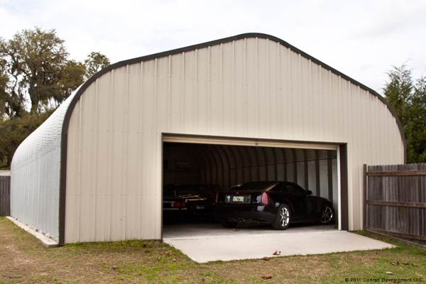 gallery building steel two car buildings garage