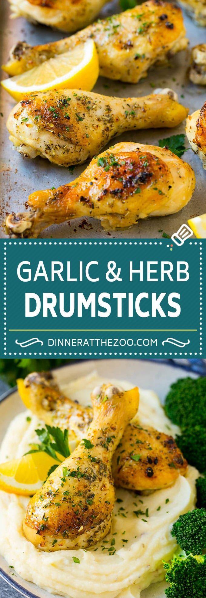 Baked Chicken Drumsticks Recipe | Roasted Chicken Drumsticks | Garlic and Herb Chicken
