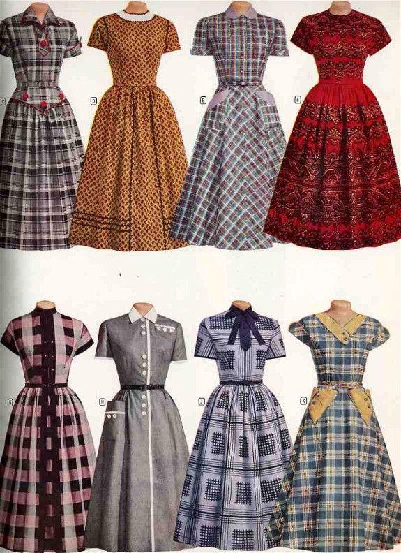 1950s Fashions From Montgomery Ward 1950 Fashion 1950s Fashion Retro Fashion