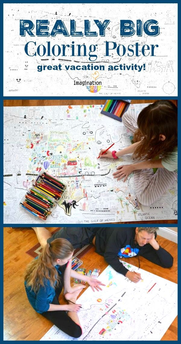 Big Family Fun with Gigantic Coloring Poster Fun family
