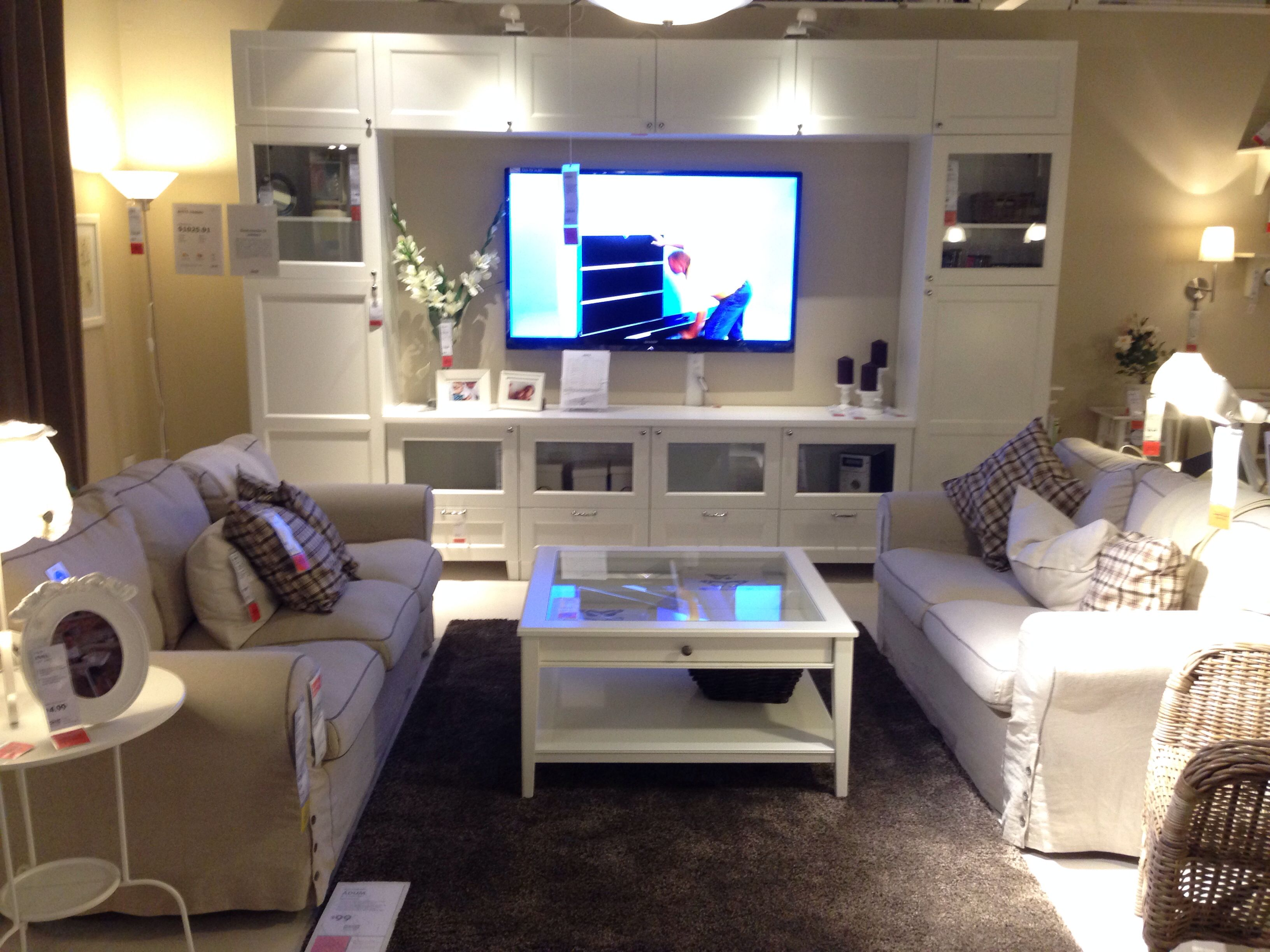 our exact entertainment center from ikea i absolutely. Black Bedroom Furniture Sets. Home Design Ideas