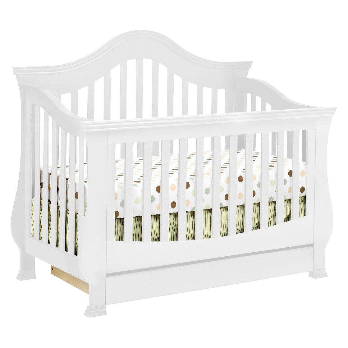Million Dollar Baby Classic Ashbury 4 In 1 Convertible Crib With Toddler Rail White Baby Furniture Sets Convertible Crib Cribs [ 1120 x 1120 Pixel ]