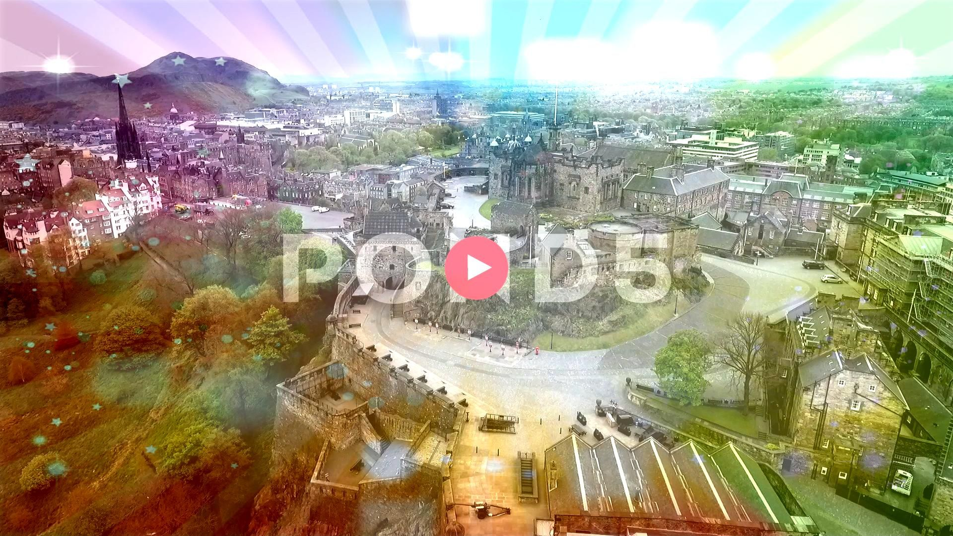 city scotland the historic Castle Rock cloudy Day Aerial shot Stock Footage historicCastleRockEdinburghEdinburgh city scotland the historic Castle Rock cloudy Day Aerial...