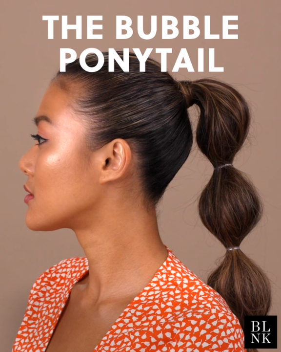 How To Create A Bubble Ponytail Bubbleponytail Hairtutorial