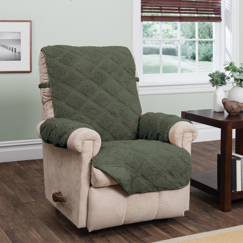 Innovative Textile Solutions Hudson Green Waterproof Recliner Furniture Cover Hunter Hunter Green Recliner Slipcover Slipcovers For Chairs Slipcovers